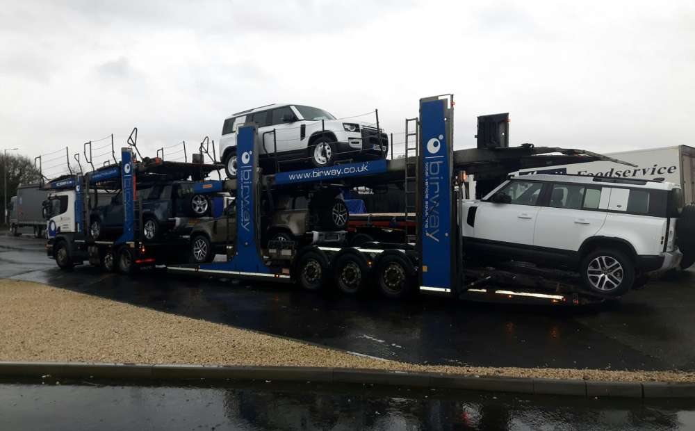 Birway transporting new Land Rover Defender