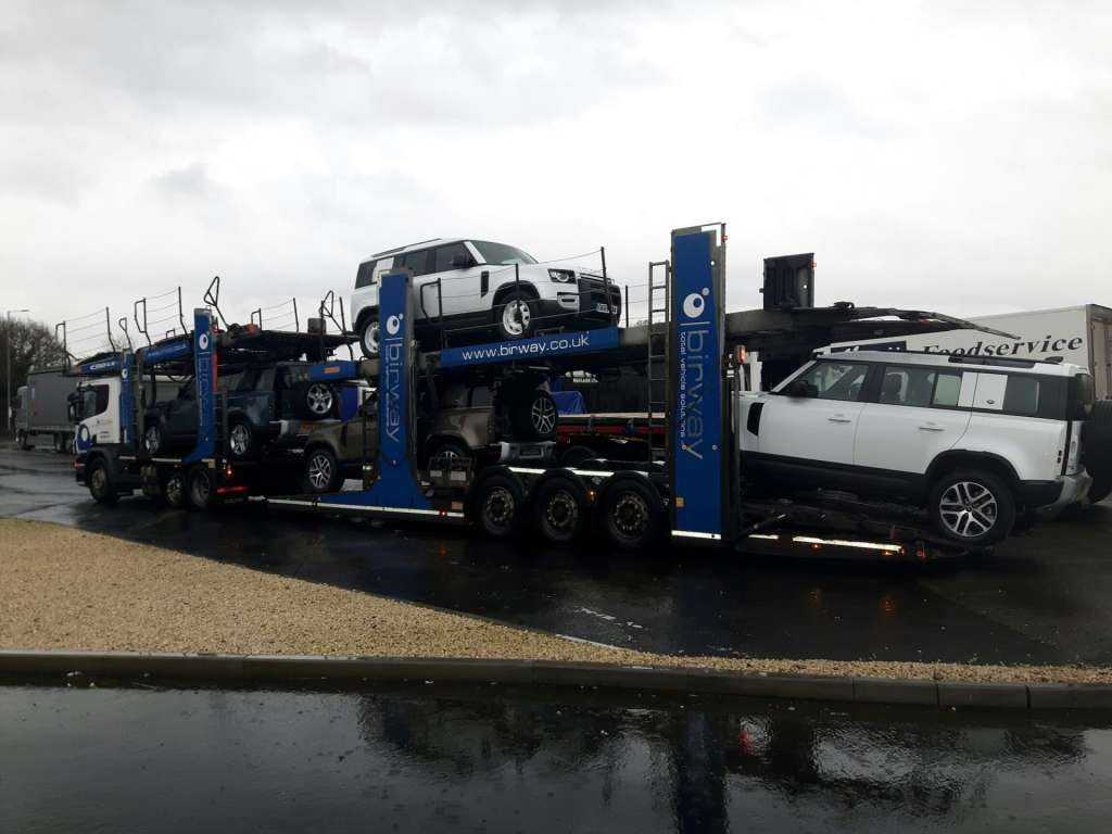 Birway transporting new Land Rover Defender